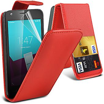 i-Tronixs Vodafone First 7 Case Cover PU Leather Flip Case Elagant Pouch -Red