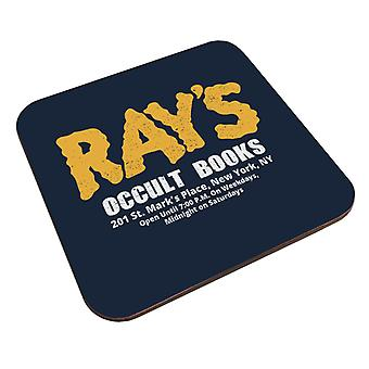 Rays Occult Books Ghostbusters Coaster