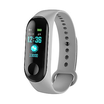 M3 water resistant activity bracelet with color display-grey