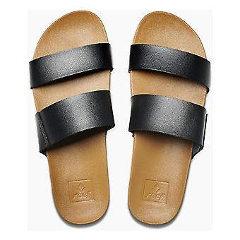 Reef Cushion Bounce Vista Sandals in Black/Natural