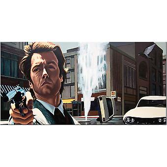 Justin Reed - Feeling Lucky Punk Dirty Harry Canvas Plate 50-100cm