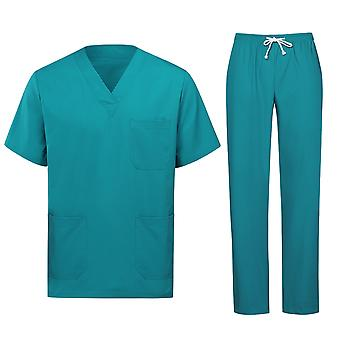 Allthemen Men's V-Neck Cotton Short-Sleeves Medical Cowns Hospital Abiti