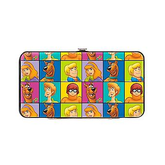 Scooby Doo Character Blocks Hinged Clutch Purse