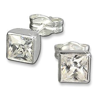 SilberDream SDO558W - Sterling Silver Earrings 925