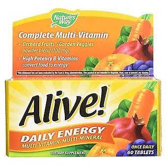 Luonto ' s Way Alive! päivittäinen energia monivitamiini, tabletit, 60 EA