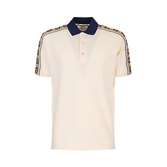 Gucci 598949xjb0q9247 Men's White Cotton Polo Shirt