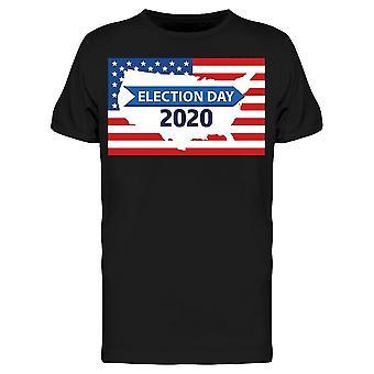 Valdagen 2020 W/Flag and Map Tee Men's -Bild av Shutterstock Men's T-shirt