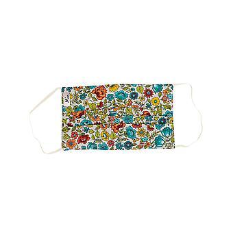 Mio SB4 Modern Garden Multi Floral Cotton Face Mask com fio de nariz removível