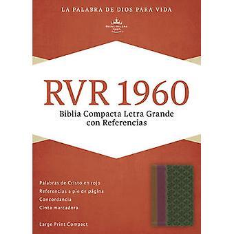 RVR 1960 Biblia Compacta Letra Grande con Referencias - ambar/rojo la