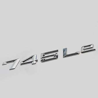 Silver Chrome 745Le Car Model Rear Boot Number Letter Sticker Decal Badge Emblem For 7 Series