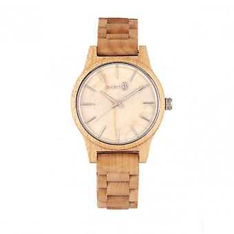 Earth Wood Tuckahoe Marble-Dial Bracelet Watch - Khaki/Tan