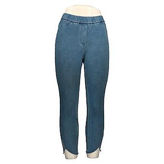 Isaac Mizrahi En direct! Femmes-apos;s Petite Jeans w/ Slim Leg Blue A353185