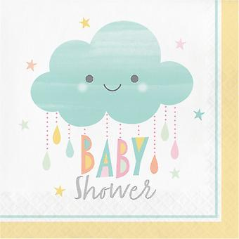 Baby Shower Sunshine Cloud Paper Party Napkins x 16