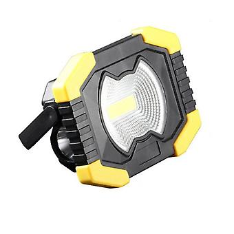 Portable ip65 waterproof 50w led cob floodlight support solar usb rechargeable