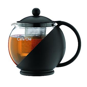 Cafe Ole Teapot with Infuser Black 1.2L