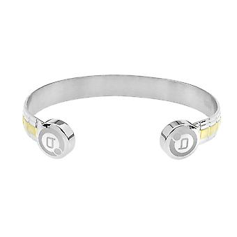 Lux Two Tone Magnetic Bangle (Grootte: Klein 130-150mm)