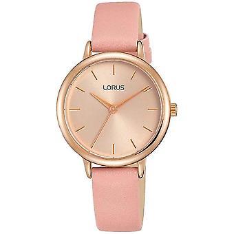 Lorus RG240NX-9 Silver Tone With Brown Strap Wristwatch