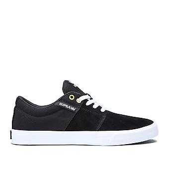 SUPRA Mens stapels II Vulc HF Canvas lage Top Lace Up skateboarden schoenen