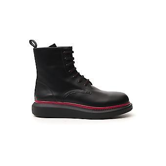 Alexa Chung 625192whx5f1020 Men's Bottes de cheville en cuir noir
