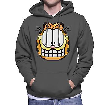 Garfield pixelated Grin mannen ' s Hooded Sweatshirt