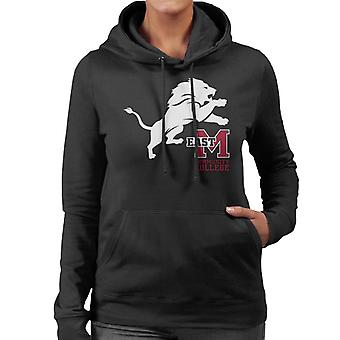 East Mississippi Community College Lion And Logo Women's Hooded Sweatshirt