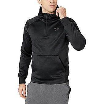 Peak Velocity Men-apos;s Black Ops Fleece Quarter-Zip Athletic-Fit Hoodie, noir, ...