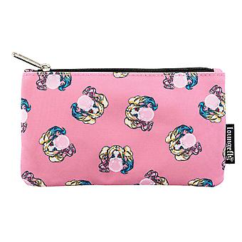 Harley Quinn Pouch Purse Bubble Gum print new Official Loungefly DC Comics Pink