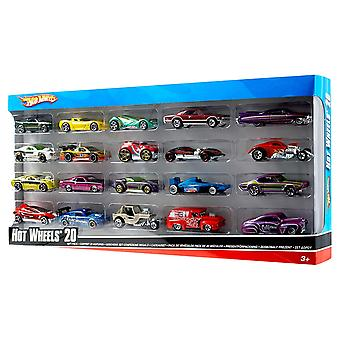 Hot Wheels H7045 20 Diecast Pack y Mini Toy Cars