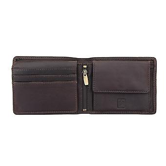 Primehide Leather Wallet RFID Blocking Mens Card Holder Gents Notecase 5803