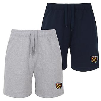 West Ham United Mens Shorts Jogger Fleece OFFICIAL Football Gift