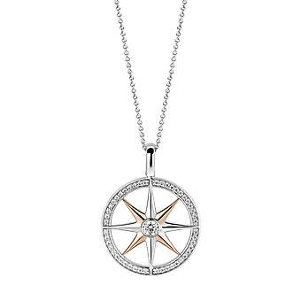 Vedhæng Ti Sento flimrende lys 6769ZR - vedhæng vedhæng sølv Bicolore kompas kvinde