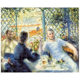 Print on canvas - Breakfast On the River Bank - Pierre Auguste Renoir - Painting on Canvas, Wall Decoration