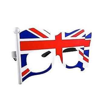 Sun-Staches - UK Flag Clear Lens Glasses Toy Sunglasses SG2013