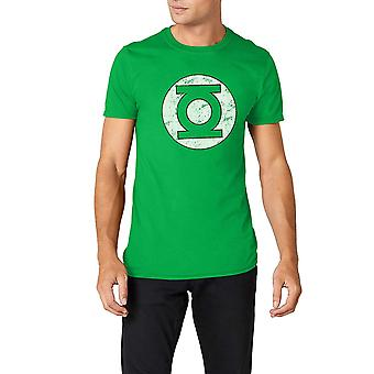 Green Lantern Unisex Adults Distressed Logo T-Shirt