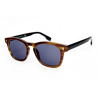 Solglasögon Unisex Wayfarer blå/brun (20-219)