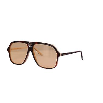 Gucci GG0734S 005 Havana/Orange Sunglasses