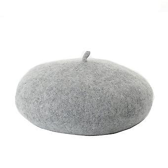 Klassieke Franse baret in wol - Grijs