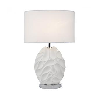 Zachary White And Polished Chrome 1-light Table Lamp