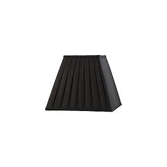 20 Cm Square Pleated Lampshade Black
