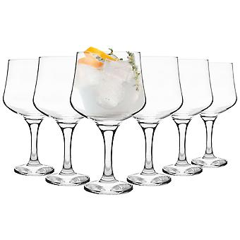 Rink Drink 6 Piece Balloon Gin Glass Set - Large Copa Style Bowl Glass - 690ml