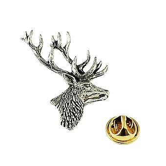 Ties Planet Stag's Head English Pewter Lapel Pin Badge