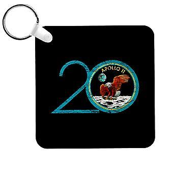 NASA Apollo 11 20th Anniversary Badge Distressed Keyring
