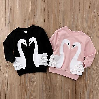 Toddler Cotton Cotton Cartoon Manica Lunga T-shirt Top