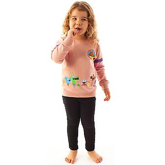 Hey Duggee Squirrel Club Girls Pink Long Sleeved Sweatshirt Kids Sweater