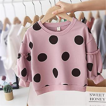 Baby Girls Clothes Long Sleeve Cotton Dot Hoodies Sweatershirt- Autumn Winter