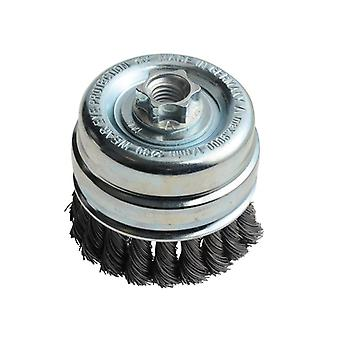 Lessmann Knot Cup Brush 80mm x M14 x 0.50 Steel Wire* LES484217