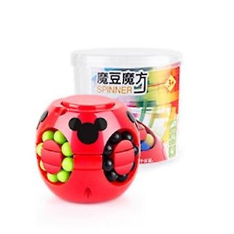2 In 1 Magic Bean Cube & Spinning Gyro Colorful Magic-cube, Fingertip Gyroscope