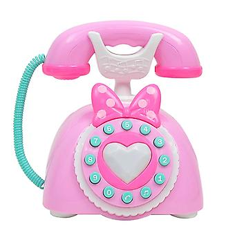 Plastic Electronic Vintage Telephone Landline - Kids Pretend Play, Early