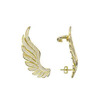 Gabriel Angel Wing Ear Climber Gold