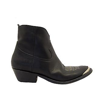 Golden Goose Gwf00131f00048490100 Kvinnor's svarta läder ankelstövlar
